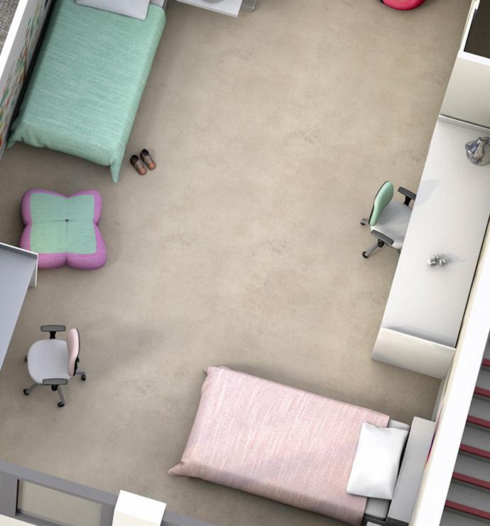 Yksityiset tilat: Makuuhuoneet